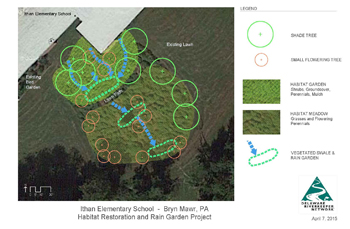 Ithan School Habitat Restoration and Rain Garden Project site plan 2015.4.7.jpg